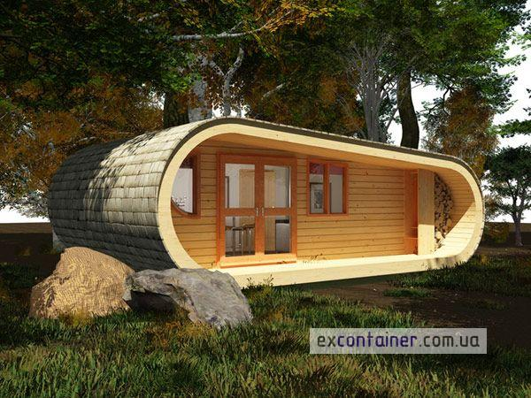 Cool-TreeHouse-Prefabricated-Shipping-Container-Homes-Oval